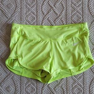 Nike EUC Neon Yellow Dri-Fit Shorts Size M